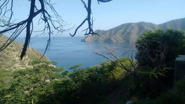 taganga santa marta view over the bay